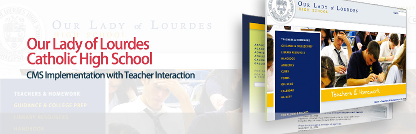 Our Lady of Lourdes Catholic High School: CMS Implementation with Teacher Interaction